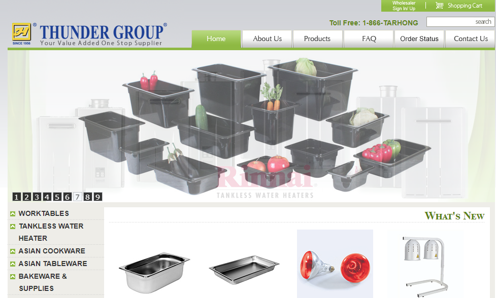 Thunder Group cookware, tableware