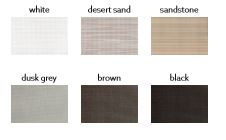 Available colors for Roman Shade Roof