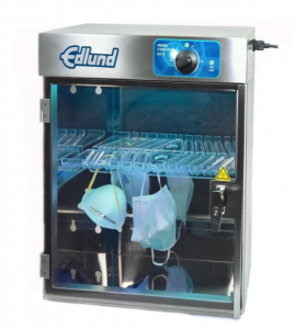 Edlund Company's KSUV-18 sterilizer being used to sanitize facemasks