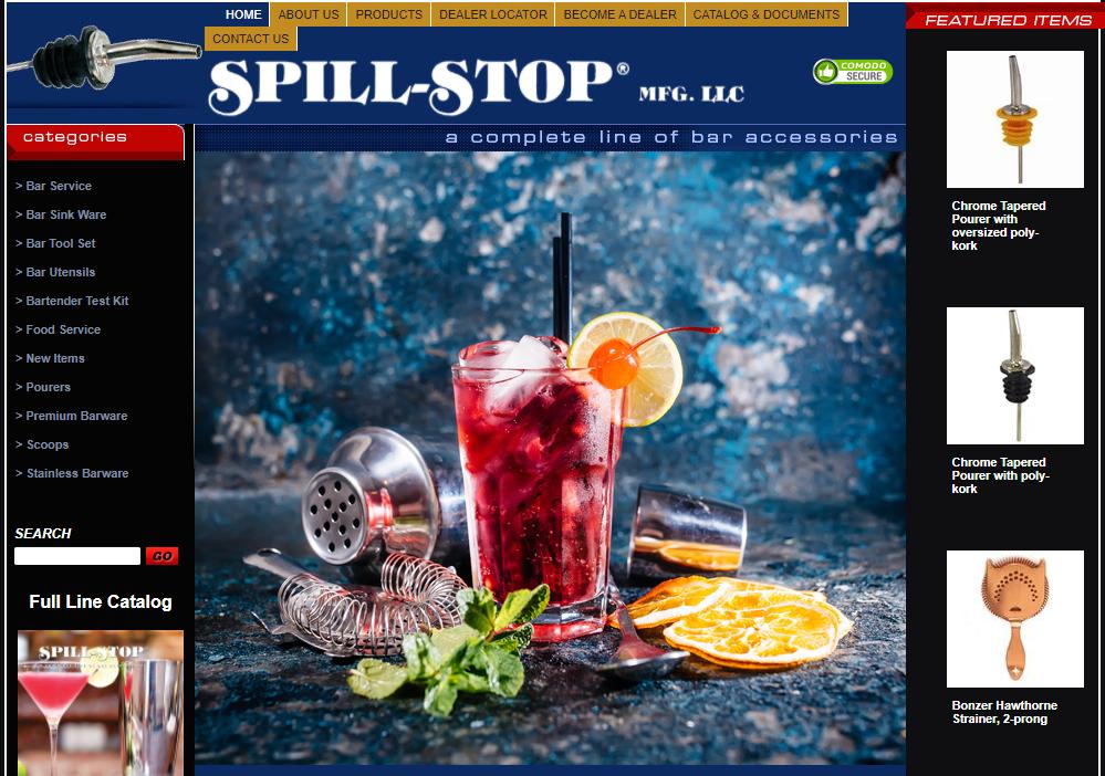 Spill-Stop Mfg. LLC bar supplies